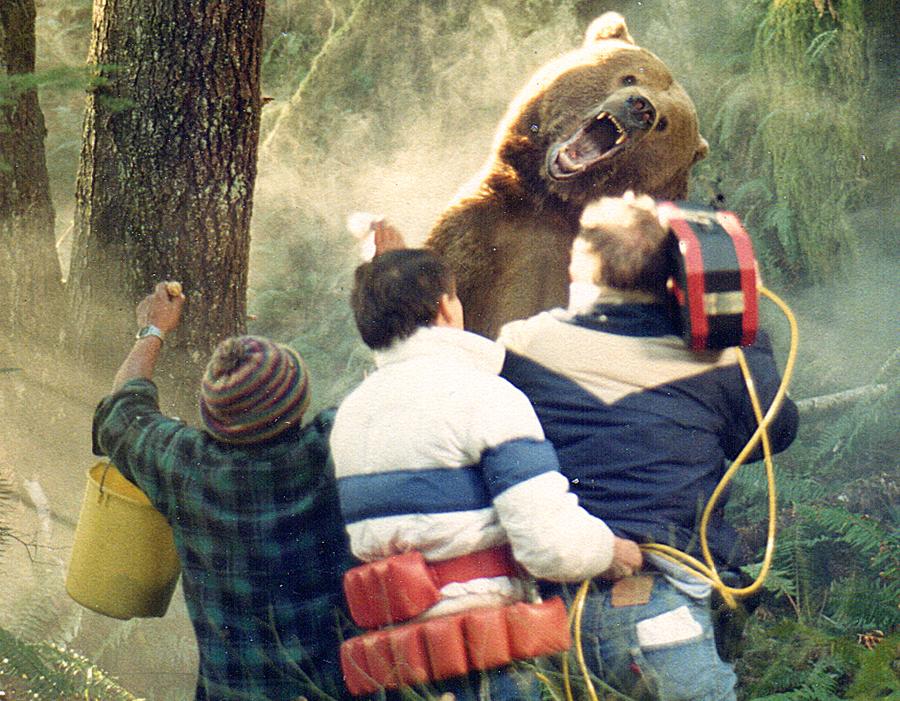 17' Bear. The handler is the little guy on the left.