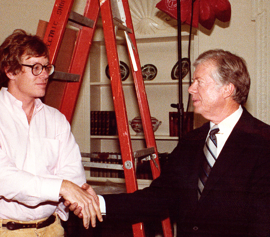 1980 with President Jimmy Carter working on his presidential campaign.